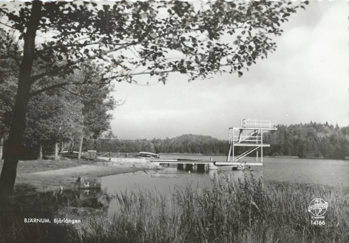 Badplatsen vid Bjärlången